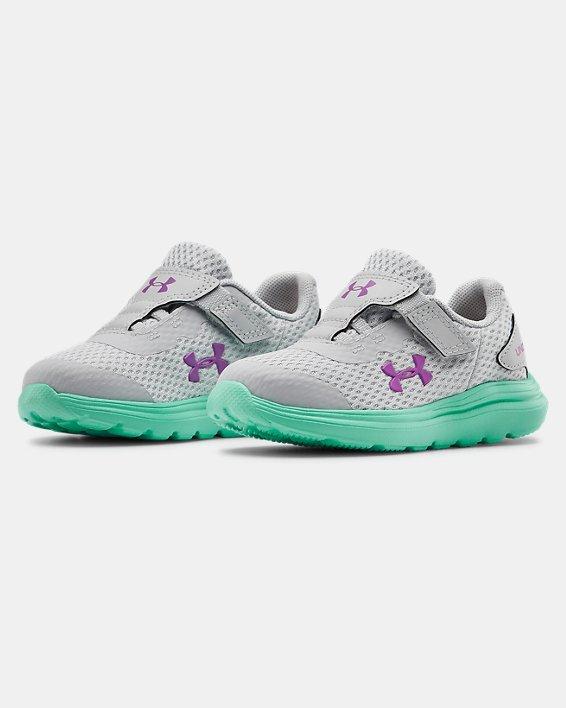 Infant UA Surge 2 AC Running Shoes, Green, pdpMainDesktop image number 3