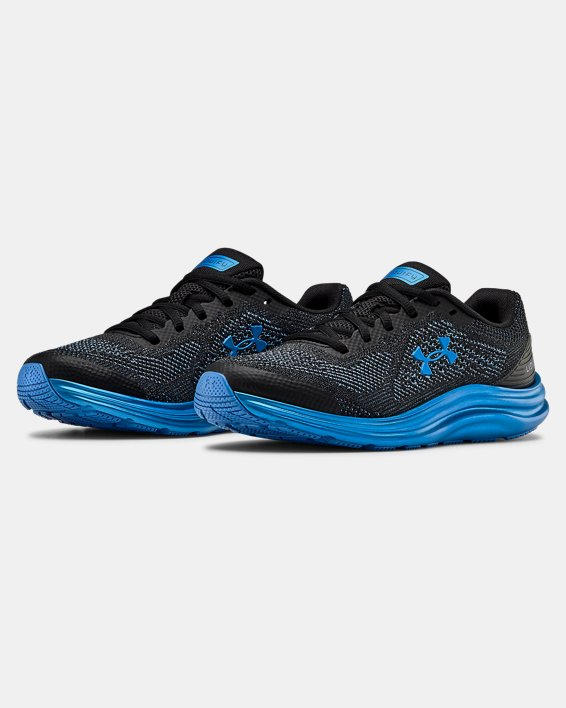 Grade School UA Liquify Running Shoes, Black, pdpMainDesktop image number 4