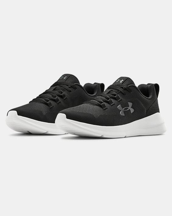 Women's UA Essential Sportstyle Shoes, Black, pdpMainDesktop image number 3
