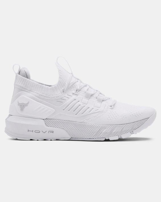 Men's UA Project Rock 3 Training Shoes, White, pdpMainDesktop image number 0
