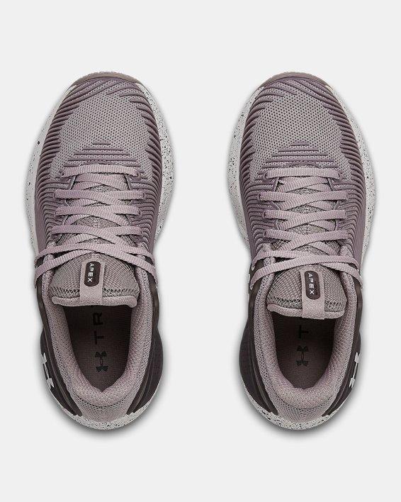 Chaussures d'entraînement UA HOVR™ Apex 2 pour femme, Purple, pdpMainDesktop image number 2