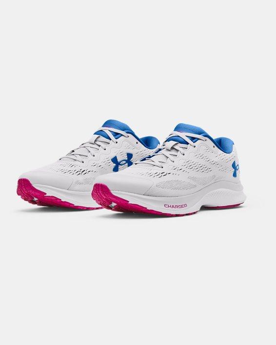 Women's UA Charged Bandit 6 Running Shoes, Gray, pdpMainDesktop image number 3