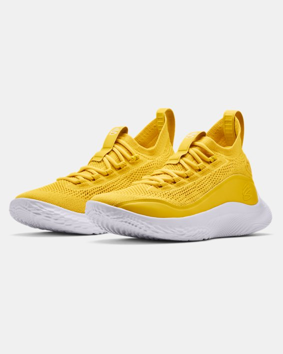 Curry Flow 8 Basketball Shoes, Yellow, pdpMainDesktop image number 3