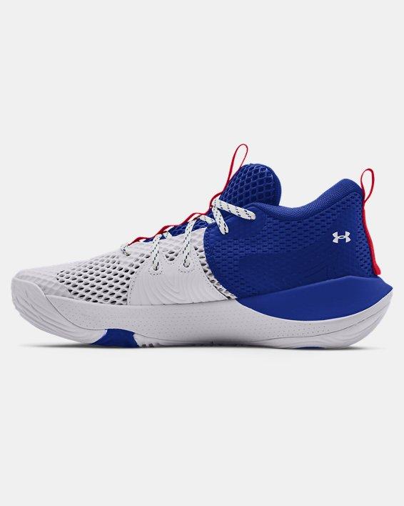 Unisex UA Embiid One Basketball Shoes, White, pdpMainDesktop image number 1