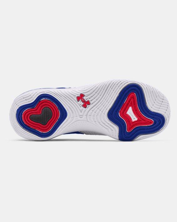 Unisex UA Embiid One Basketball Shoes, White, pdpMainDesktop image number 4