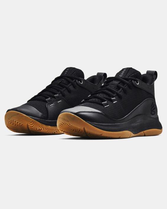 Unisex UA 3Z5 Basketball Shoes, Black, pdpMainDesktop image number 3