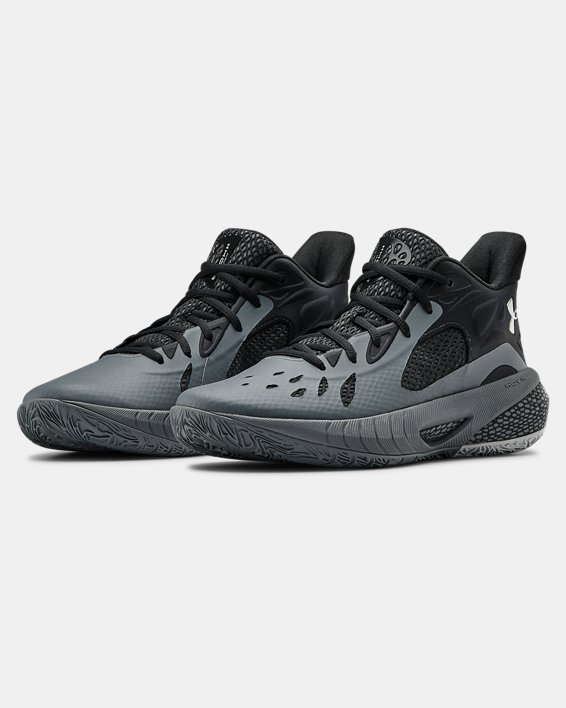 UA HOVR™ Havoc 3 Basketball Shoes, Gray, pdpMainDesktop image number 3