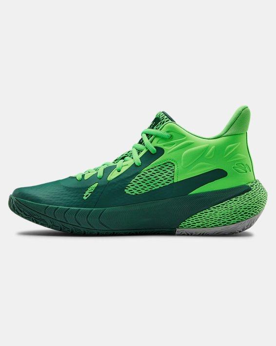 UA HOVR™ Havoc 3 Basketball Shoes, Green, pdpMainDesktop image number 1