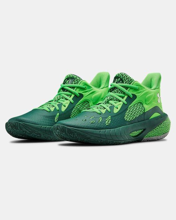 UA HOVR™ Havoc 3 Basketball Shoes, Green, pdpMainDesktop image number 3
