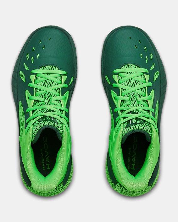 UA HOVR™ Havoc 3 Basketball Shoes, Green, pdpMainDesktop image number 2