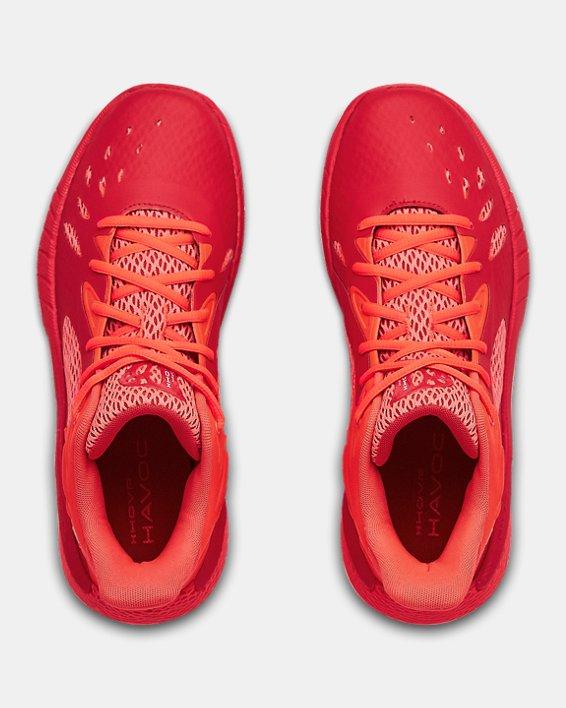 UA HOVR™ Havoc 3 Basketball Shoes, Red, pdpMainDesktop image number 2