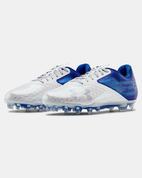 Men's UA Blur Lux MC Football Cleats, Blue, pdpMainDesktop image number 4