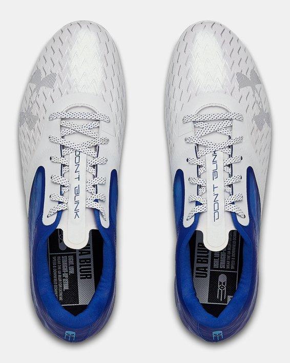 Men's UA Blur Lux MC Football Cleats, Blue, pdpMainDesktop image number 3