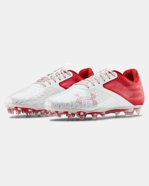 Men's UA Blur Lux MC Football Cleats, Red, pdpMainDesktop image number 4