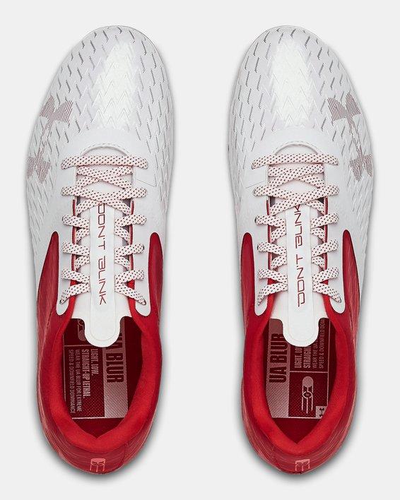 Men's UA Blur Lux MC Football Cleats, Red, pdpMainDesktop image number 3