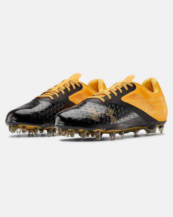 Men's UA Blur Lux MC Football Cleats, Yellow, pdpMainDesktop image number 4