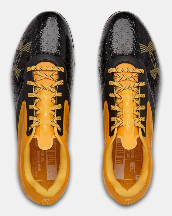 Men's UA Blur Lux MC Football Cleats, Yellow, pdpMainDesktop image number 3