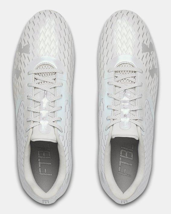Men's UA Blur Select Low MC Football Cleats, White, pdpMainDesktop image number 3