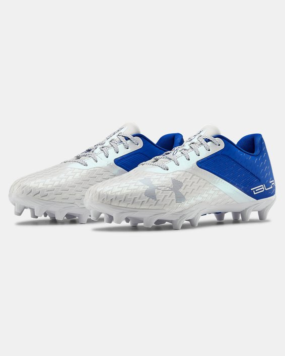 Men's UA Blur Select Low MC Football Cleats, Blue, pdpMainDesktop image number 4