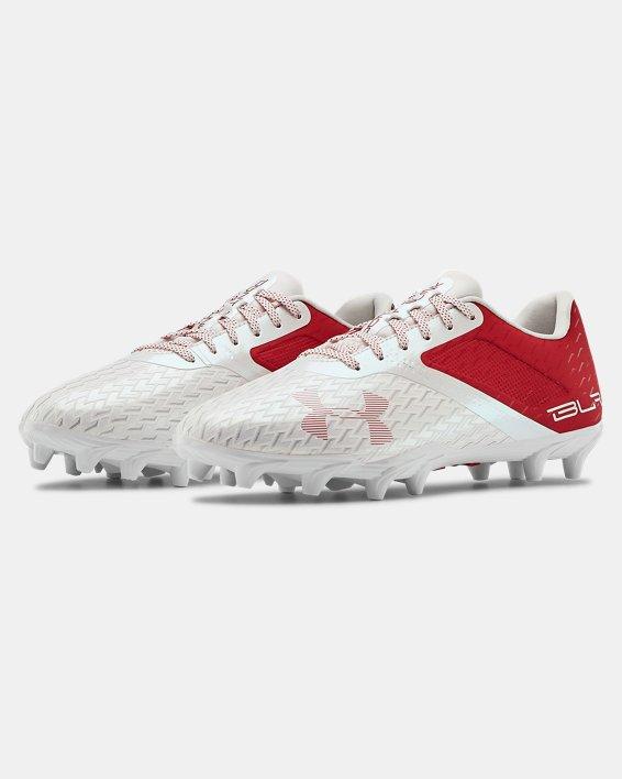 Men's UA Blur Select Low MC Football Cleats, Red, pdpMainDesktop image number 4