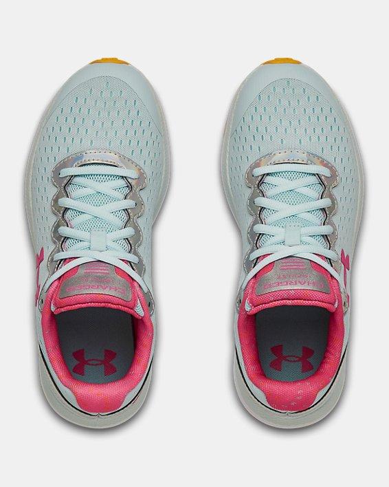 Grade School UA Charged Impulse Prism Running Shoes, Blue, pdpMainDesktop image number 3