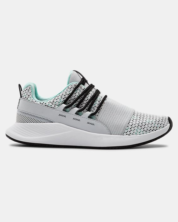 Women's UA Charged Breathe Print Sportstyle Shoes, Gray, pdpMainDesktop image number 0
