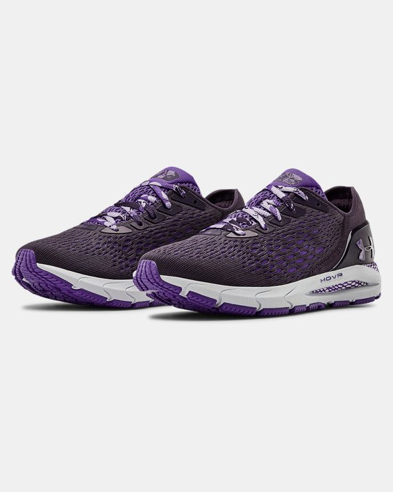 Women's UA HOVR™ Sonic 3 IWD Running Shoes, Purple, pdpMainDesktop image number 4