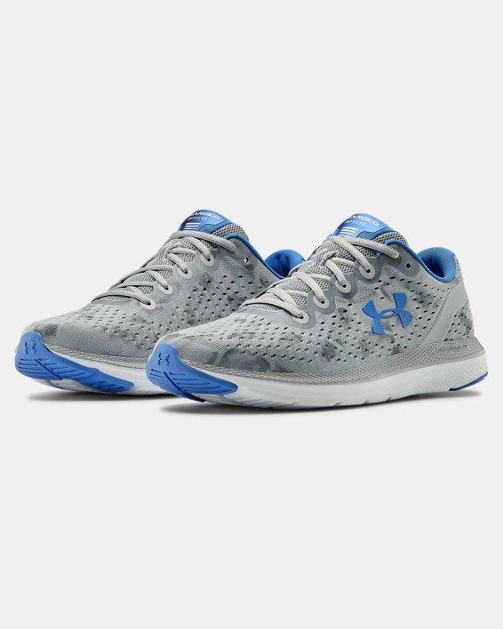 Men's UA Charged Impulse Exo Running Shoes, Gray, pdpMainDesktop image number 4