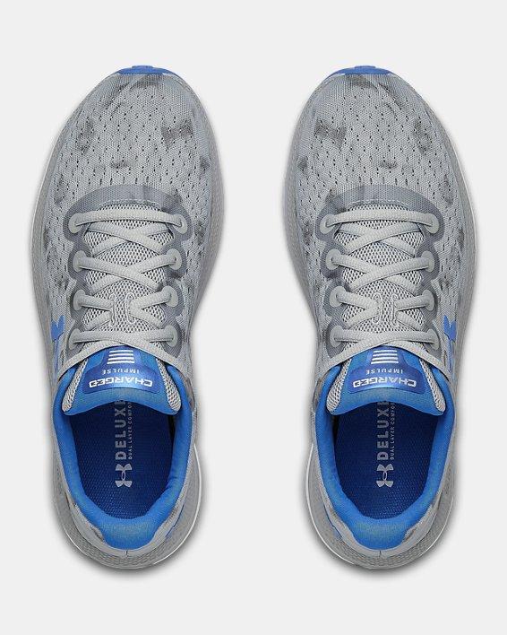 Men's UA Charged Impulse Exo Running Shoes, Gray, pdpMainDesktop image number 3