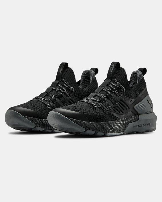 Grade School UA Project Rock 3 Training Shoes, Black, pdpMainDesktop image number 3