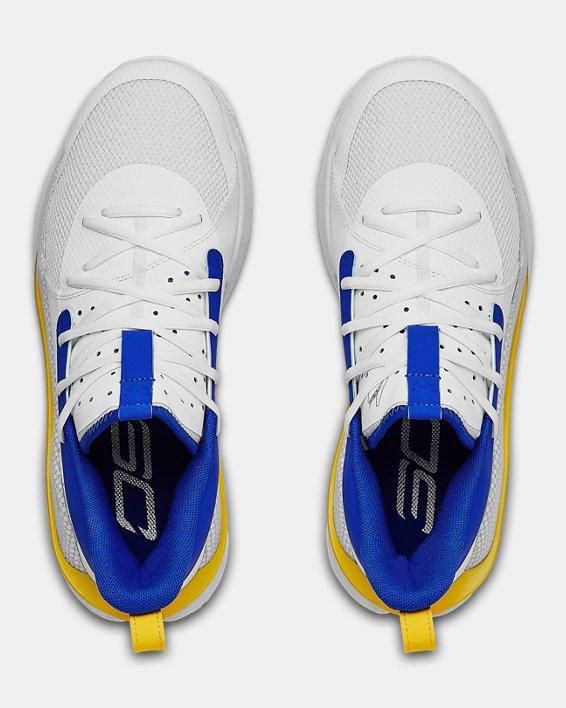 Adult UA Curry 7 TB Basketball Shoes, White, pdpMainDesktop image number 3