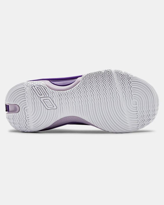 Grade School UA Curry 7 IWD Basketball Shoes, Purple, pdpMainDesktop image number 2