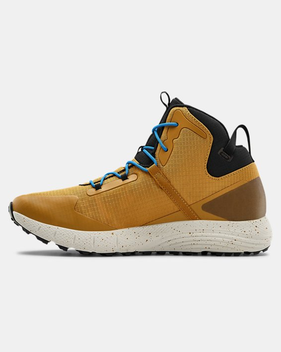 Unisex UA Charged Bandit Trek Trail Running Shoes, Yellow, pdpMainDesktop image number 1