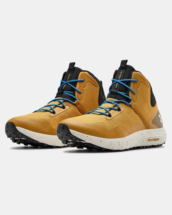 Unisex UA Charged Bandit Trek Trail Running Shoes, Yellow, pdpMainDesktop image number 3