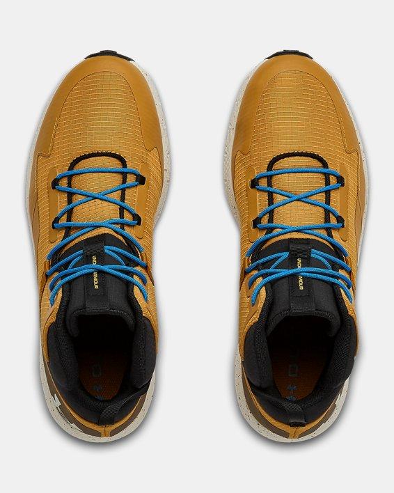 Unisex UA Charged Bandit Trek Trail Running Shoes, Yellow, pdpMainDesktop image number 2