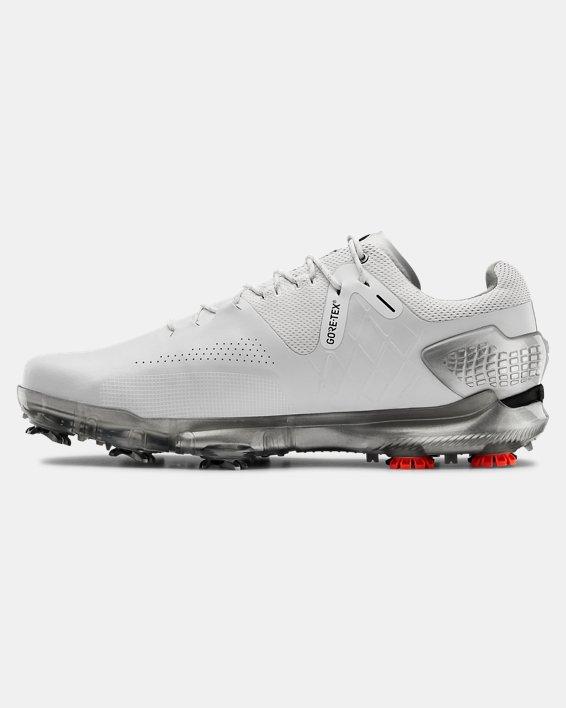 Men's UA Spieth 4 Wide E GORE-TEX® Golf Shoes, White, pdpMainDesktop image number 1
