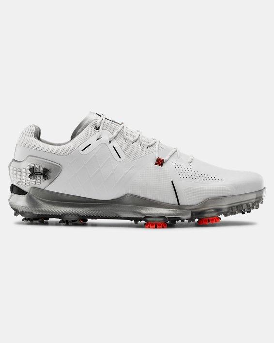Men's UA Spieth 4 Wide E GORE-TEX® Golf Shoes, White, pdpMainDesktop image number 0