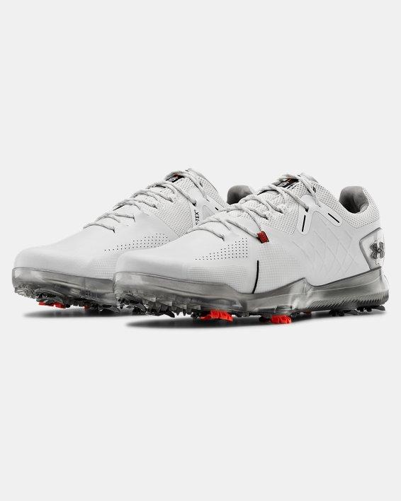Men's UA Spieth 4 Wide E GORE-TEX® Golf Shoes, White, pdpMainDesktop image number 4