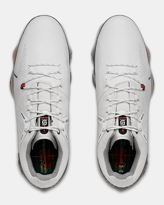 Men's UA Spieth 4 Wide E GORE-TEX® Golf Shoes, White, pdpMainDesktop image number 3