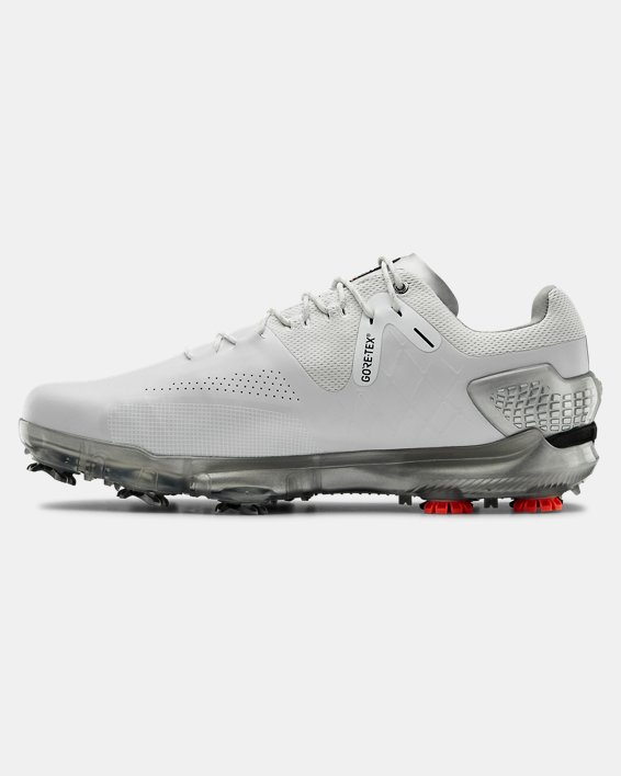 Men's UA Spieth 4 GORE-TEX® Wide EE Golf Shoes, White, pdpMainDesktop image number 1