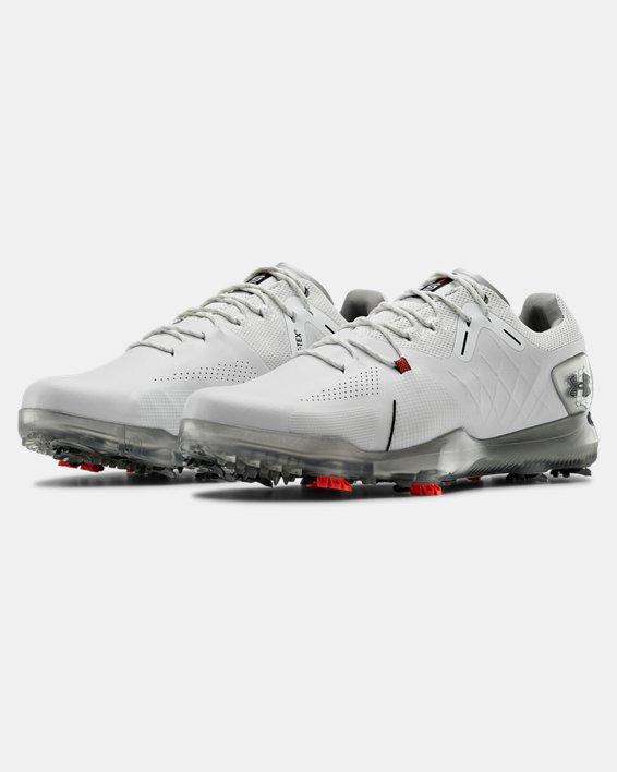 Men's UA Spieth 4 GORE-TEX® Wide EE Golf Shoes, White, pdpMainDesktop image number 4
