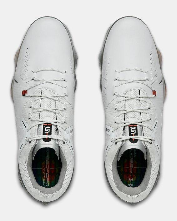 Men's UA Spieth 4 GORE-TEX® Wide EE Golf Shoes, White, pdpMainDesktop image number 3