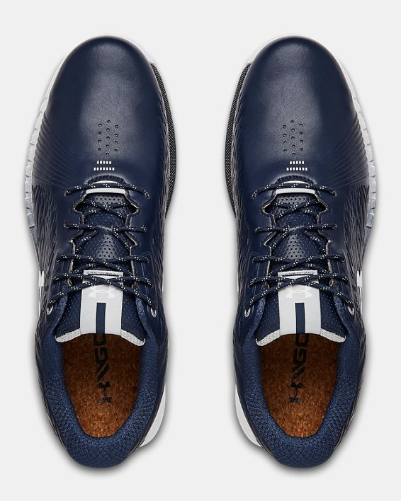 Men's UA HOVR™ Show SL GORE-TEX® Wide E Golf Shoes, Navy, pdpMainDesktop image number 3