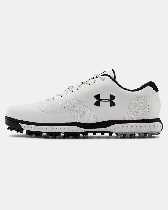 Men's UA Fade RST 3 Golf Shoes, White, pdpMainDesktop image number 1