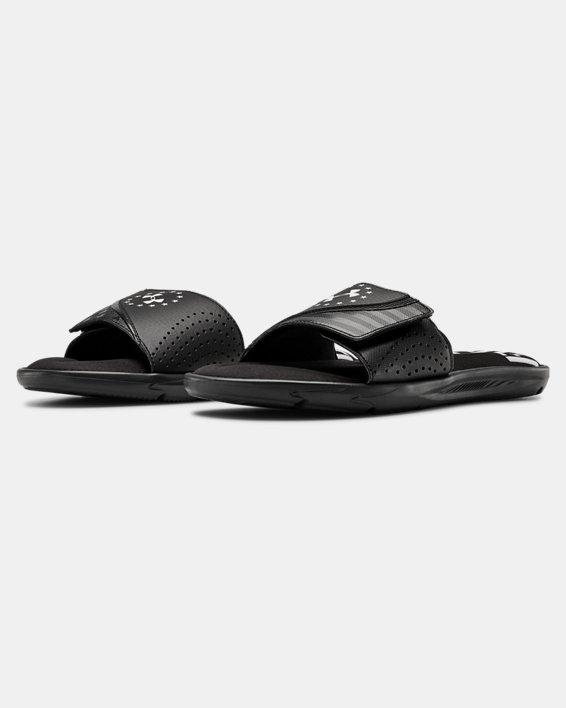Men's UA Ignite Freedom Slides, Black, pdpMainDesktop image number 4