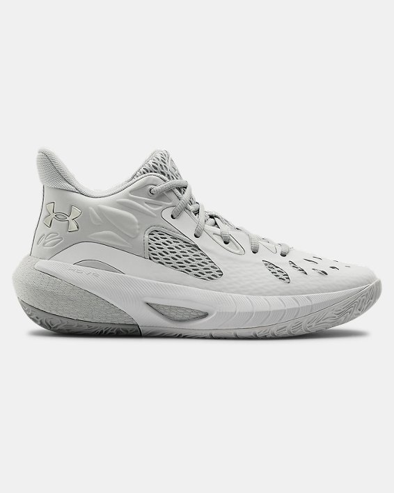 Women's UA HOVR™ Havoc 3 Basketball Shoes, White, pdpMainDesktop image number 0