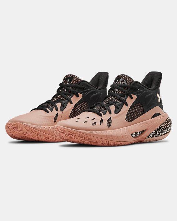 Women's UA HOVR™ Havoc 3 Basketball Shoes, Brown, pdpMainDesktop image number 4