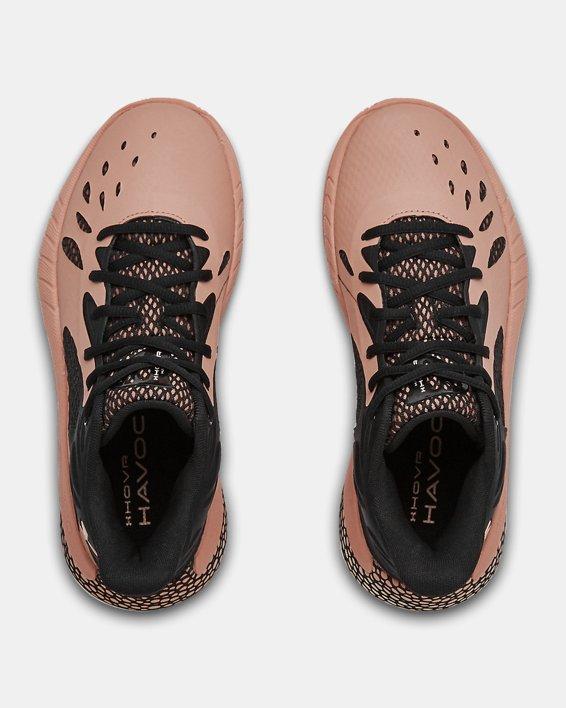 Women's UA HOVR™ Havoc 3 Basketball Shoes, Brown, pdpMainDesktop image number 3