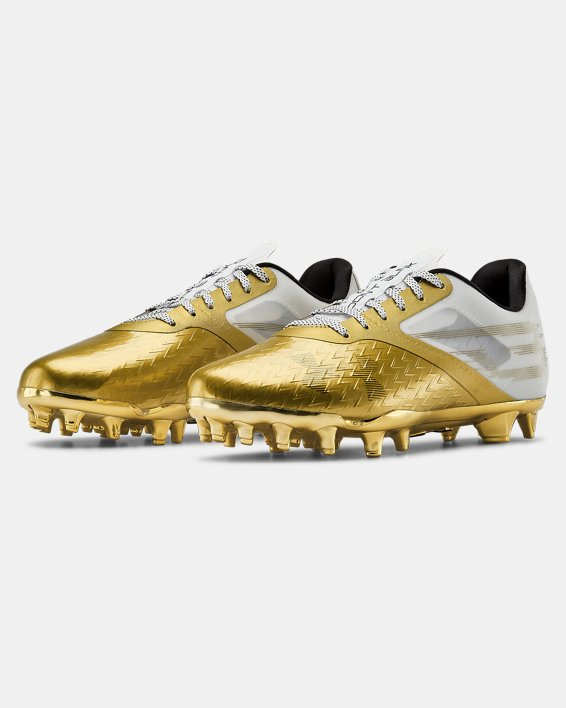 Men's UA Blur Lux LE BHM Football Cleats, Gold, pdpMainDesktop image number 4