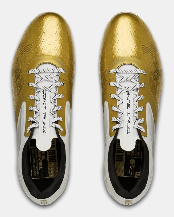 Men's UA Blur Lux LE BHM Football Cleats, Gold, pdpMainDesktop image number 3